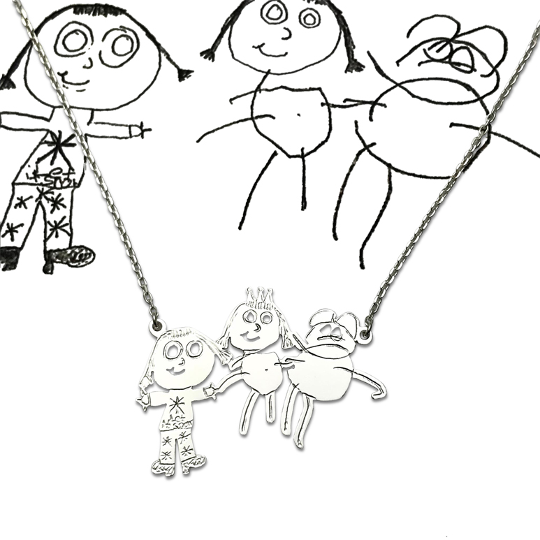 attached pendant necklace using three kids portraits.jpg