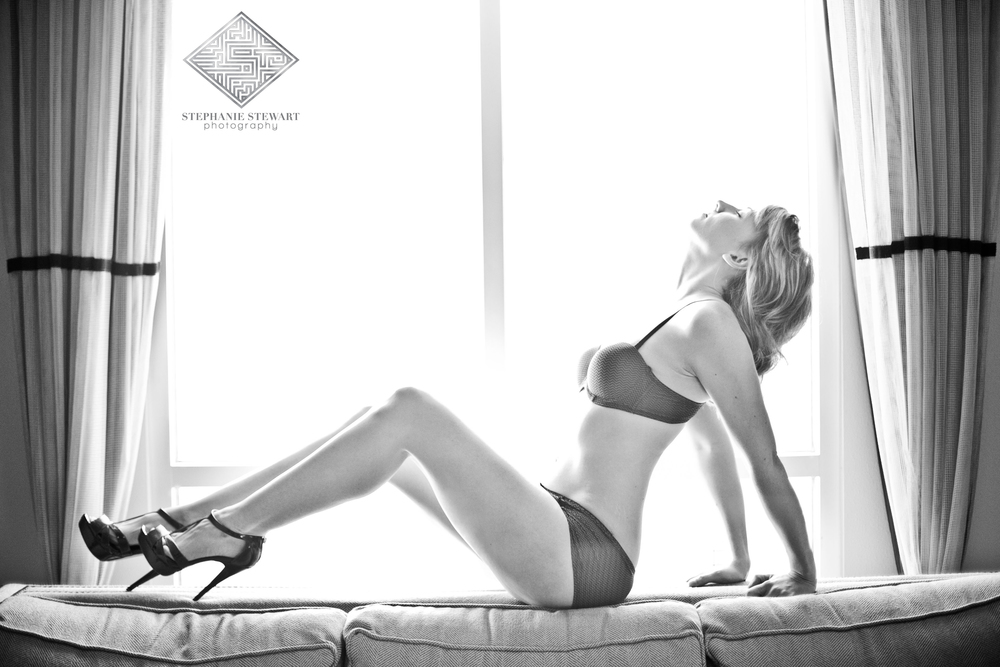 Real-Women-Sexy-Photos-Boudoir-In-Window-Black-and-White-Stephanie-Stewart-Photography