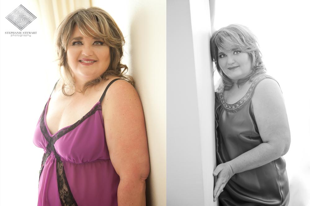 Albuquerque-Boudoir-50's-Curvy-Plus-Size-Women-Mature-Purple-Neglgiee-Stephanie-Stewart-Photography-NBExclusive
