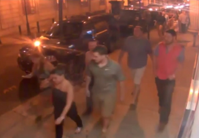 Surveillance video taken of the alleged perpetrators just prior to the attack.