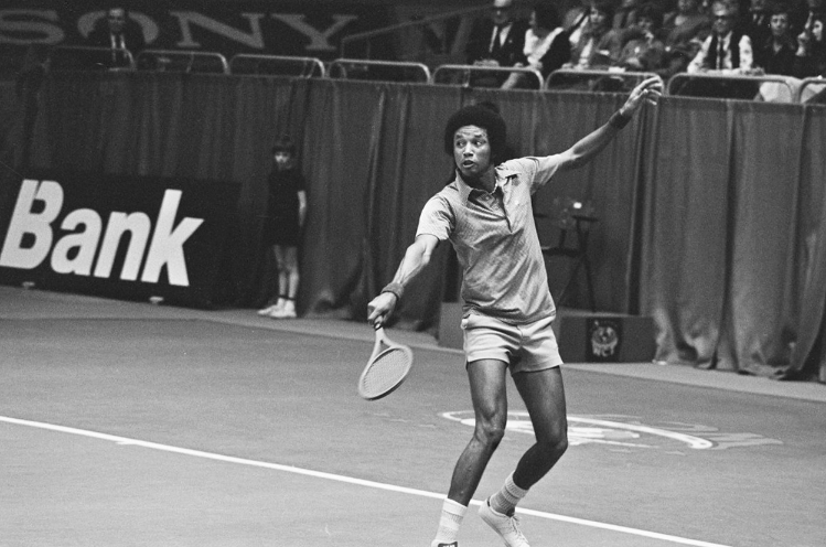 Arthur Ashe, one of the greatest tennis players of all time, HIV/AIDs activist, and first African-American player selected the United States Davis Club team.