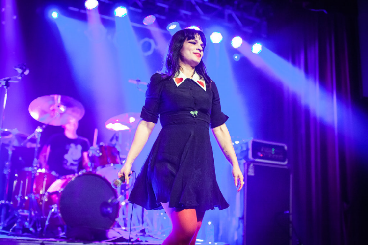 Jessicka Addams, performing at Jack Off Jill's first show in 15 years. Photo credit: Gabrielle Geiselman.