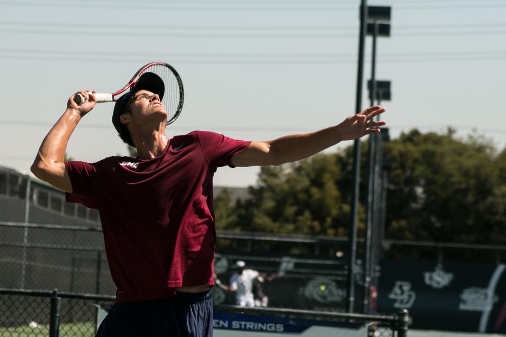 David Doehring • LMUvs. Radford | Loyola Marymount University Tennis Center