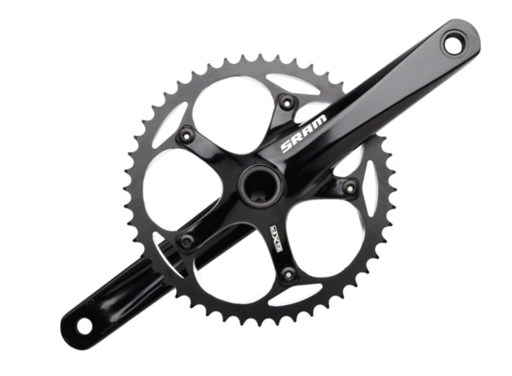 SRAM S300 1.1 GXP 175mm 130mm BCD Crankset Black, BB Included (chainring replaced with belt sprocket