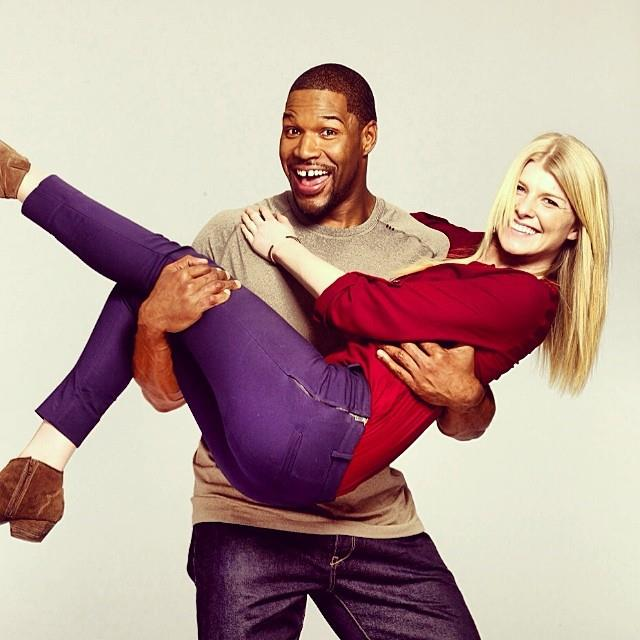 Oh just me and Michael Strahan. NBD.