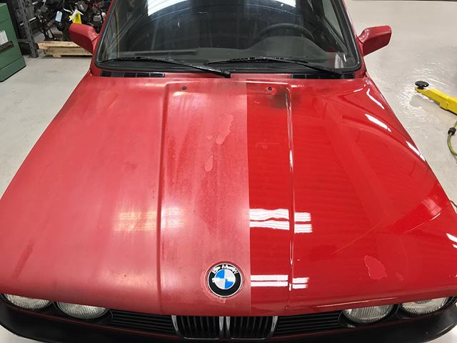 Bringing life back to this 30 year old single stage paint 👌🏻 Schedule your car now! #autoluxe #luxelifeornolife #bmw #restoration #detailsdoneright #detailingboost #e30 #detailed #e4l #exotic #exotics4life #instacar #luxury4play #luxury #motor_head_ #performance #itswhitenoise #thebillionairesclub #ridiculouslifestyle #lavish #carswithoutlimits #carporn #carinstagram #avantbleu #envisionbleu #tristate #elite #carlifestyle #cupgang