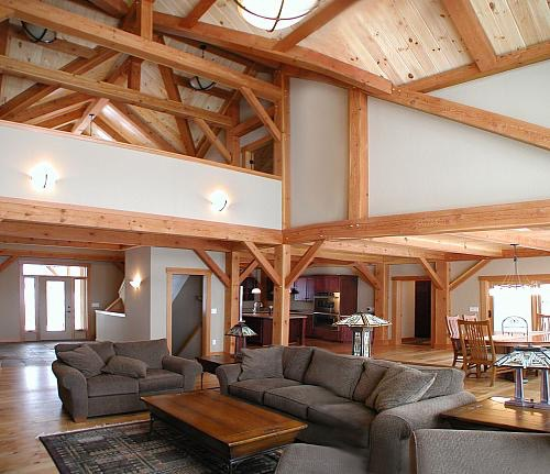 Clifton, WI Timber Frame: Loft