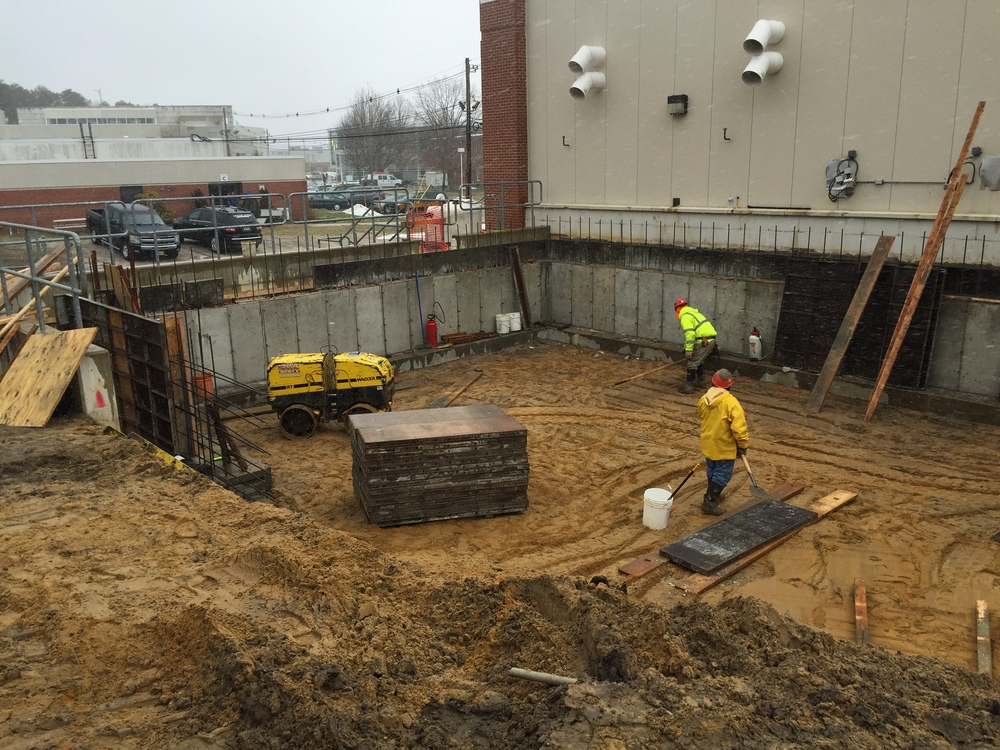 Chiller Pad Foundation At Ocean County College - Toms River, NJ