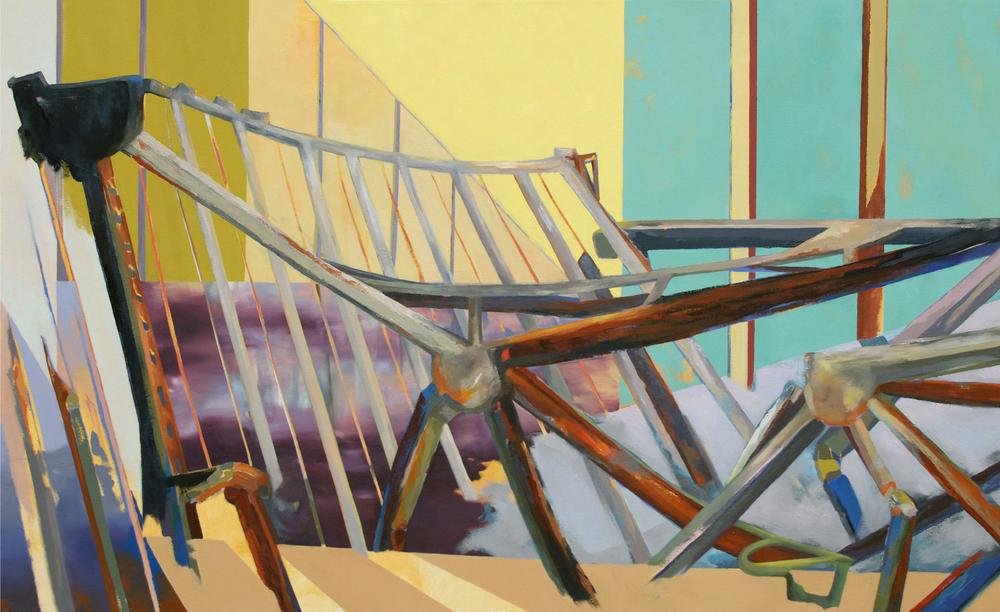 BRACKET Oil on Canvas, 34x56 in. 2014