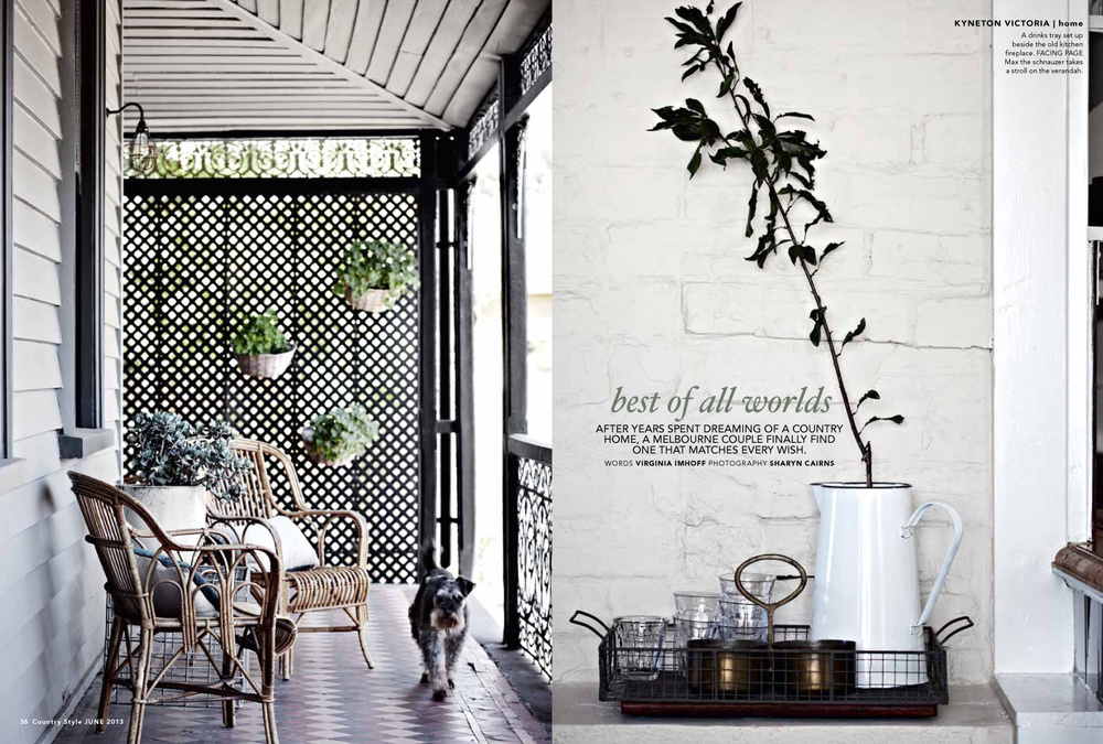 Country style magazine ellis house for Home style subscription