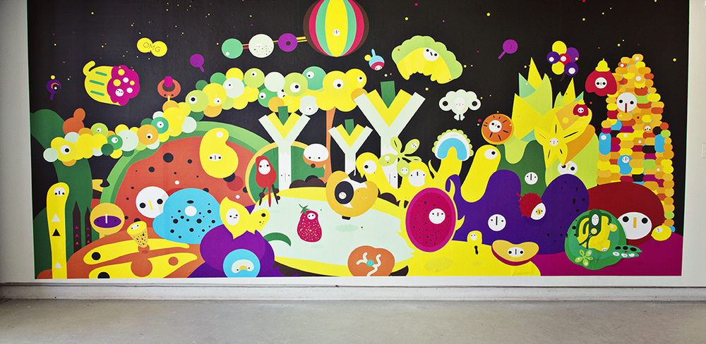 Franken Food—Interactive Wall Installation | 90 x 192 Inches | Digital Mural Printing | 2014