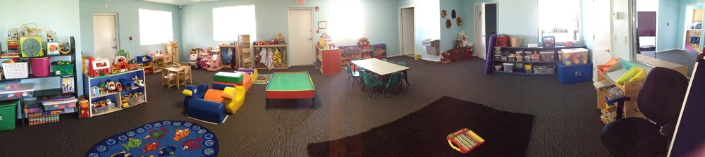 Our childcare room has toys for every kid!