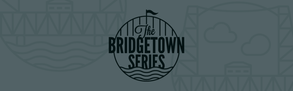 Bridgetown Series - Portland Oregon Handlettering David Sorrell Design lettering bridge icon