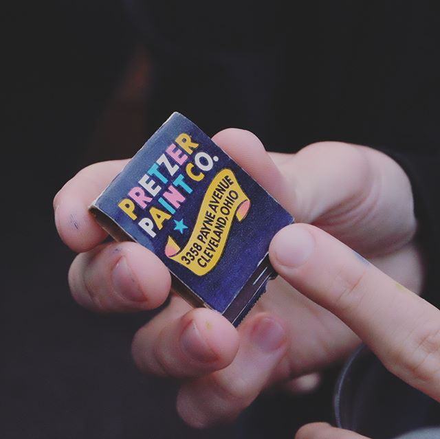 """@letterpdx """"Show & Tell"""" with @leerobsonspence and this rad San Diego matchbook find!"""
