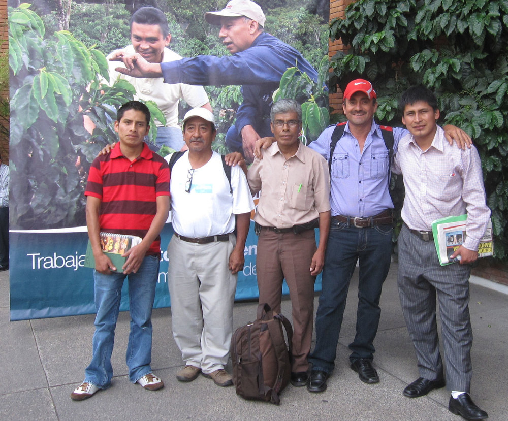 Farmers from three different cooperatives were sponsored by De la Gente to attend a coffee conference in Guatemala City.