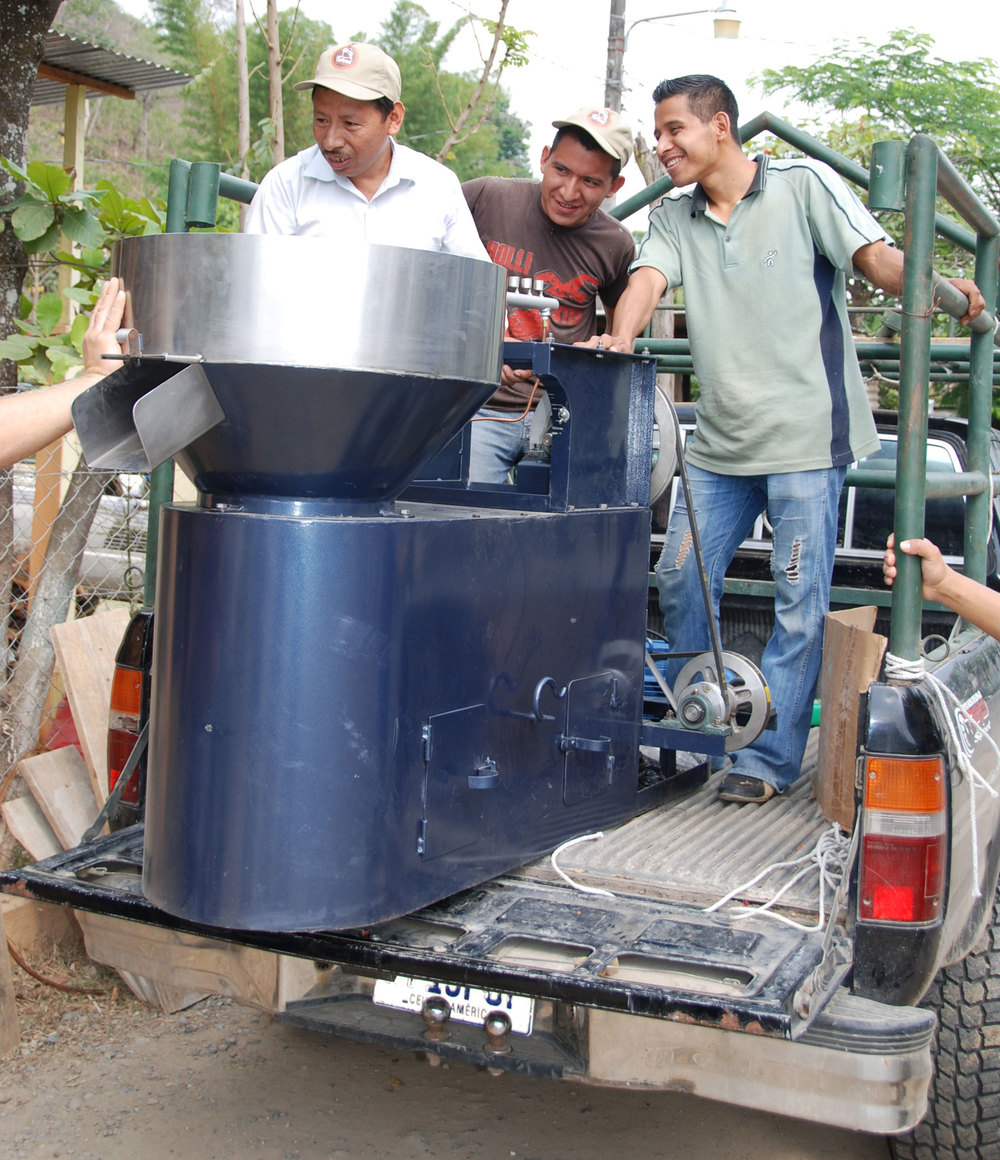 New roaster delivery in Huehuetenango.