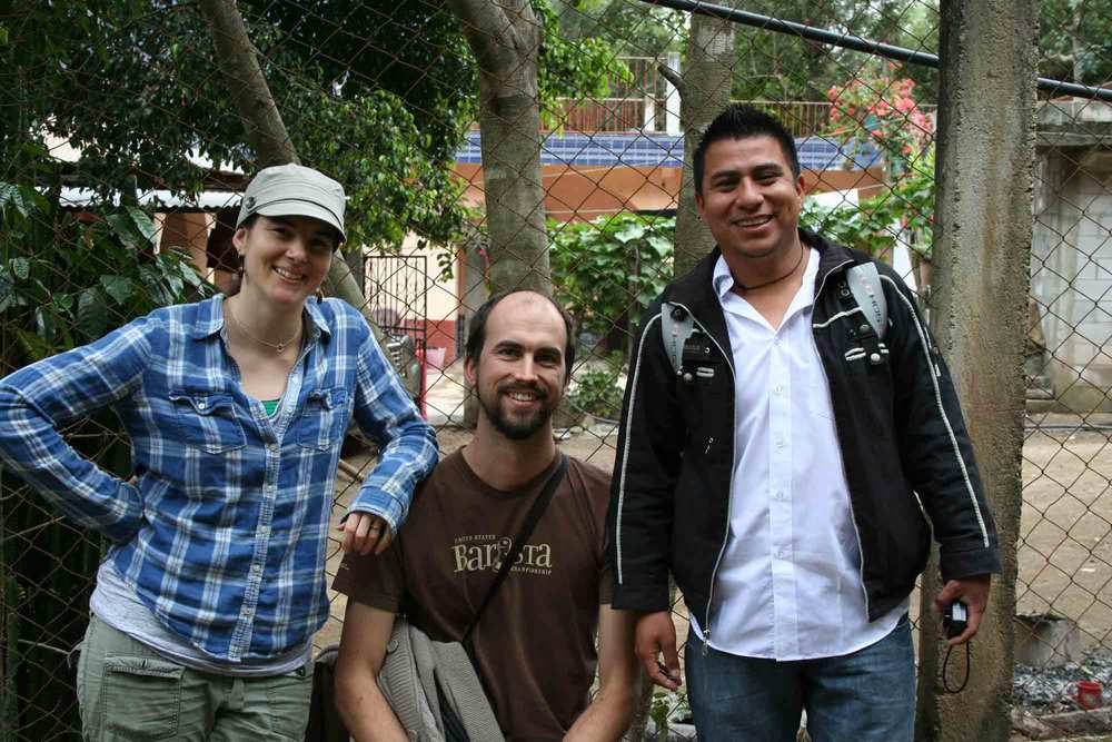 Les and Jamie from Deeper Roots on a visit to the UPC cooperative in Huehuetenango with De la Gente.