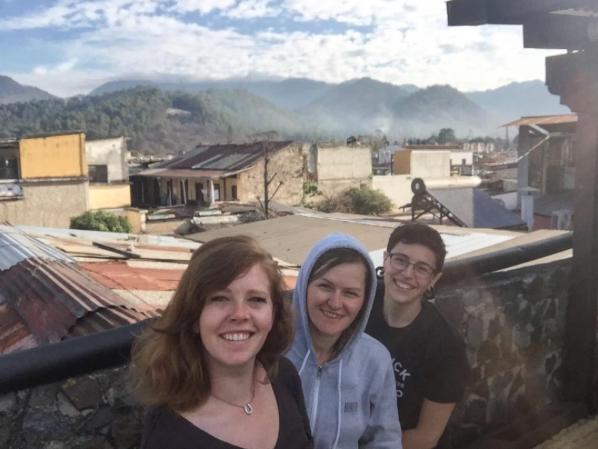 Jess, Jenni, & Bri during their visit to Guatemala