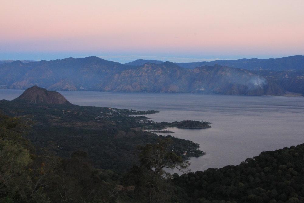 View of Atitlán Lake from San Lucas Tolimán