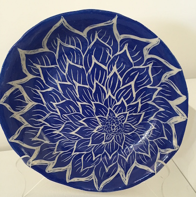 Large carved platter.