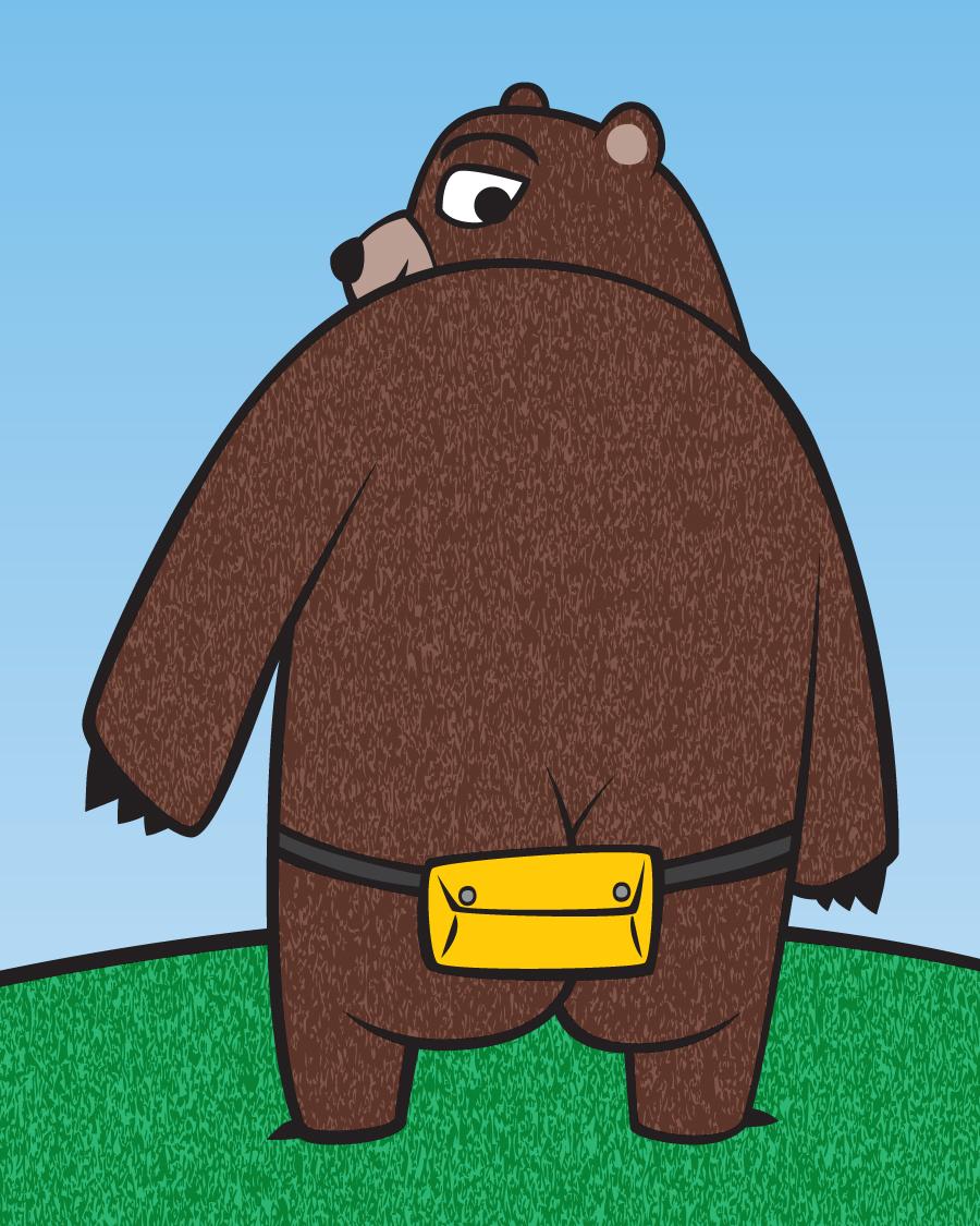 Bear Back Fanny Pack
