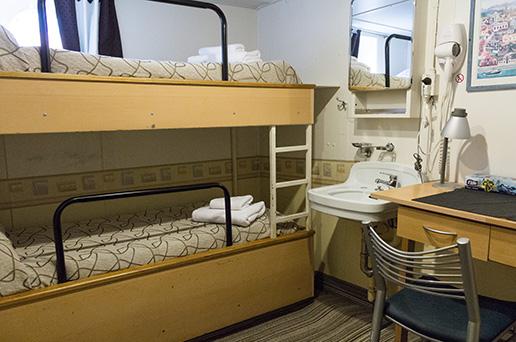 Standard Twin Cabin, Semi-Private Facilities