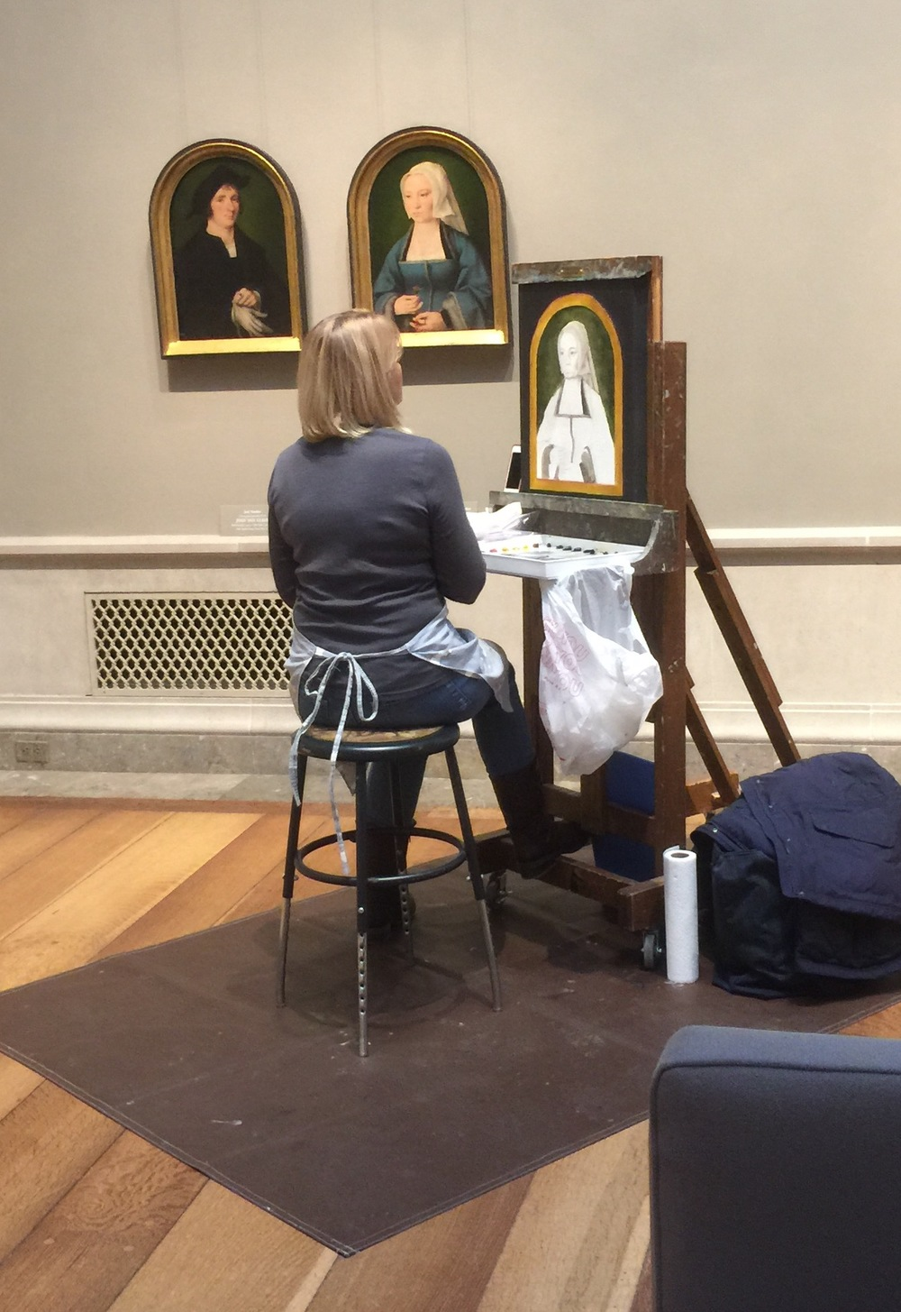 Jean Smith copying at the National Gallery of Art