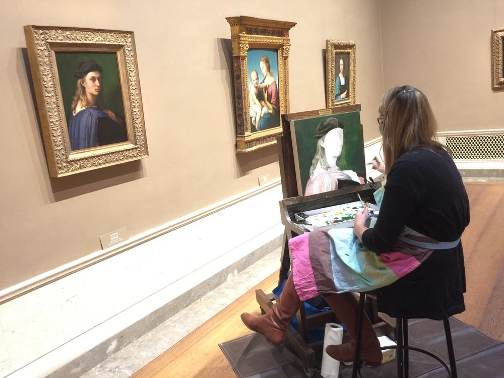 Karash Payne copying at the National Gallery of Art