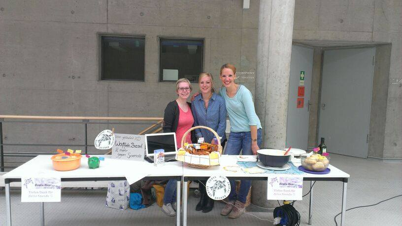 Selling snacks between the lectures at the Leuphana University Luneburg