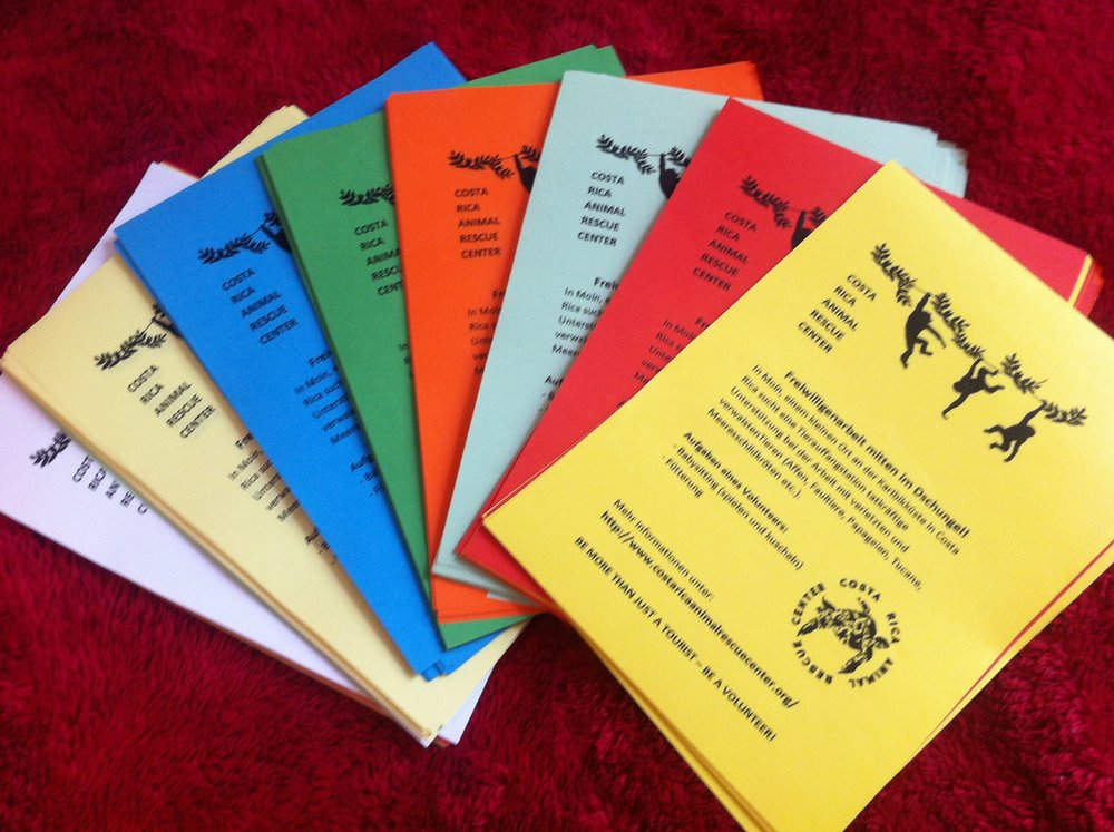 "Colourful information sheets about being ""More than just a tourist - but a Volunteer!"""