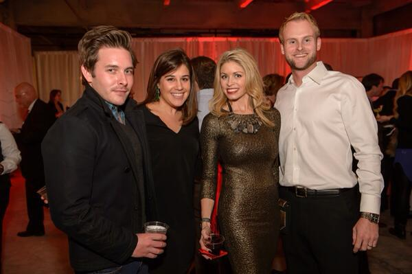 Saint Louis Magazine Holiday Bash. Jacob Laws, Christine Bade, Jan Leach Givens