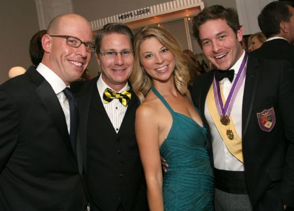 Queens Gala. Marc Lazar, Greg and Melissa Bohlmann, Jacob Laws