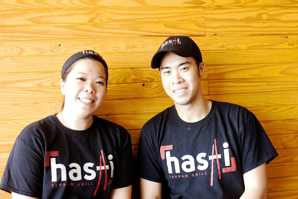 Cousins Jennifer Navejas and Phillip Cheung, owners of Hashi Teppan Grill