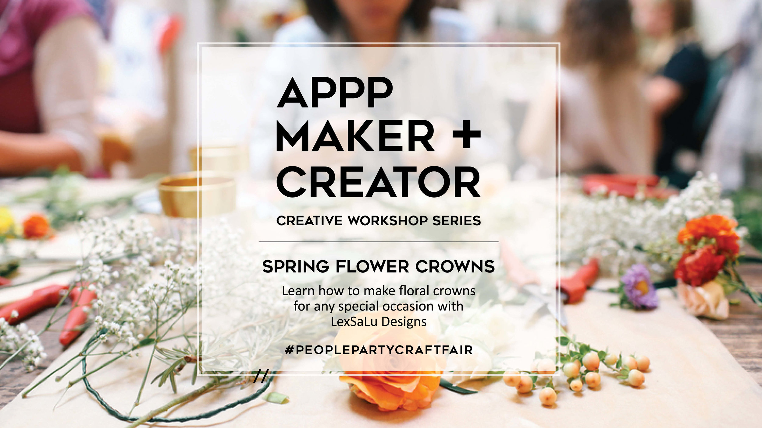 Spring Flower Crown Workshop A People Party Productions