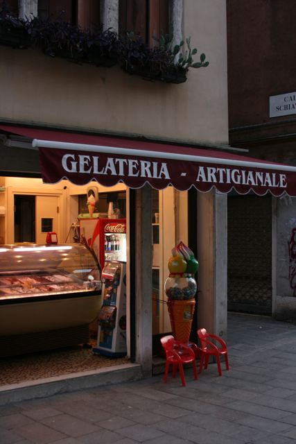 Within two blocks of the apartment we found: a grocery store, a fabulous gelato shop, a cell phone store, several great restaurants, a pharmacy, a church, and, on Sunday, a farmer's market.
