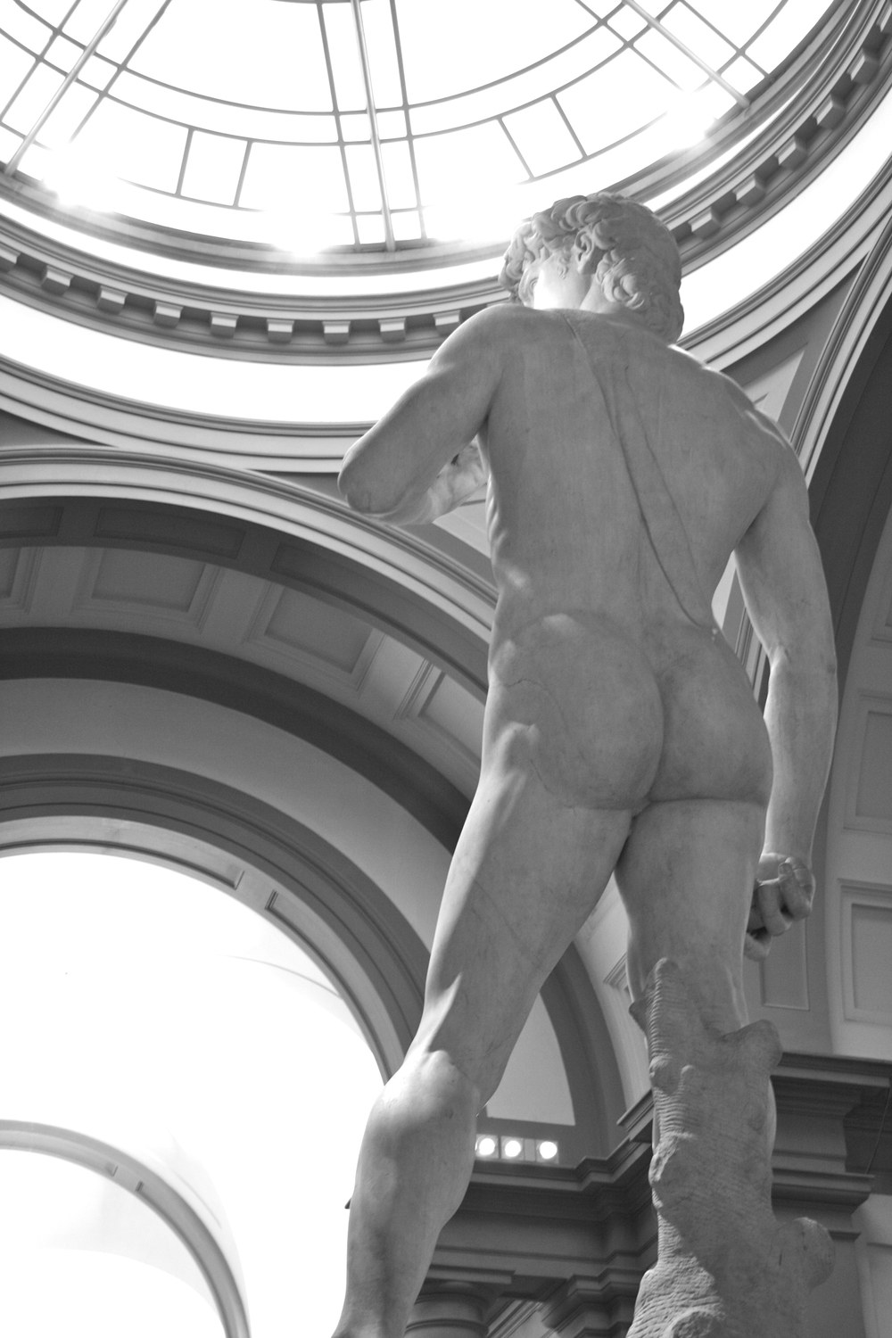 Michelangelo's magnificent David at the Galleria dell'Accademia in Florence
