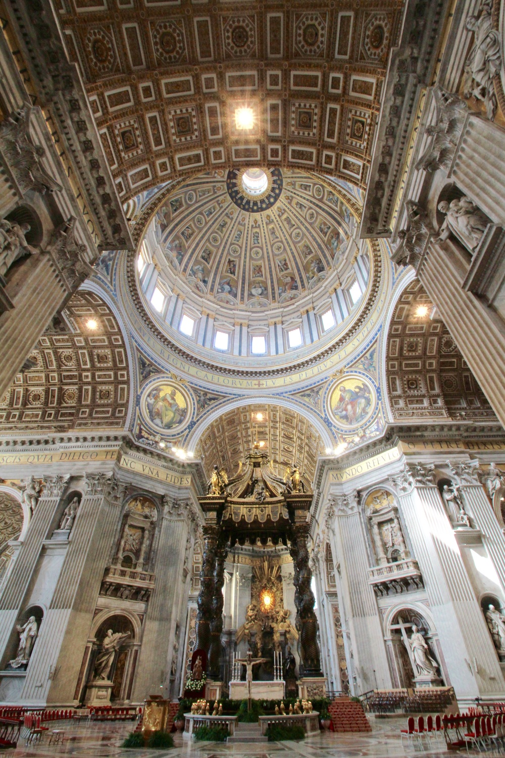 St. Peter's Basilica: Michelangelo designed the Great Crossing and the dome