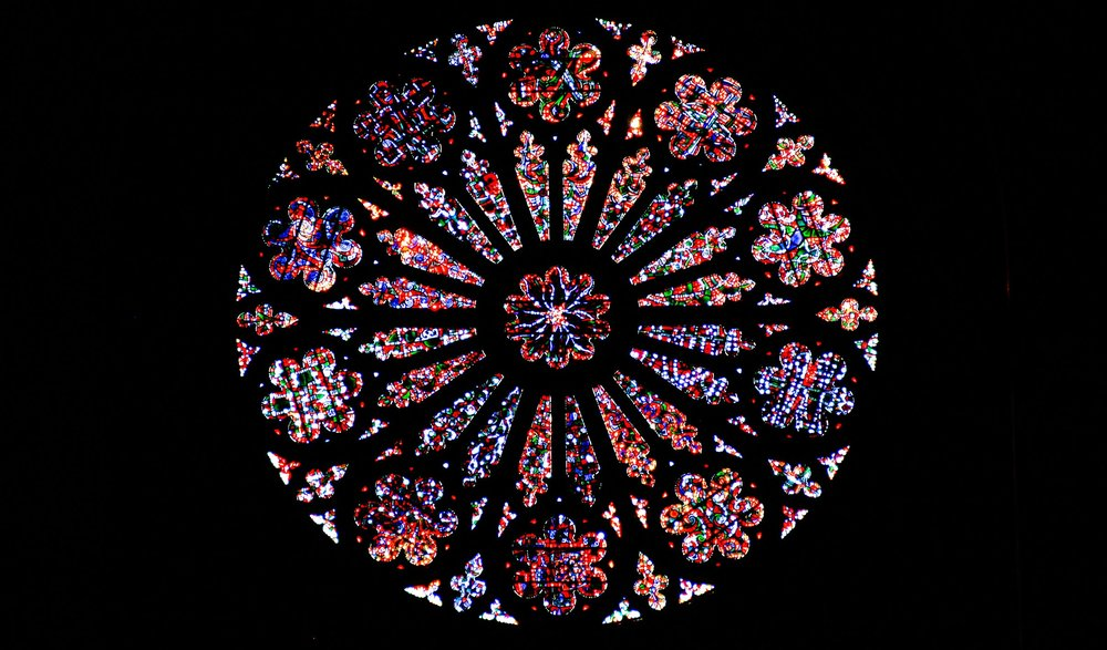 The Rose Window at the National Cathedral in Washington D.C.