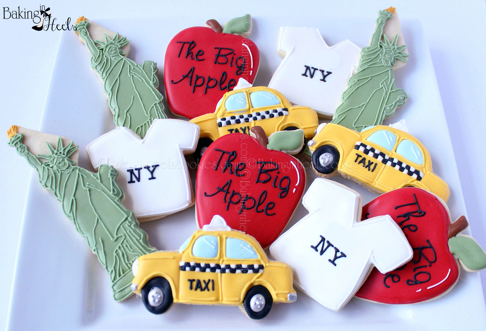 ** EDITED 9/20 Thanks to a few cookie friends, it has been brought to my attention that the I heart NY is a trademark and can't be replicated, even when not for sale. This photograph has been edited so that no regulations are broken. I will make a new set with an updated T-shirt design and post at a later date.