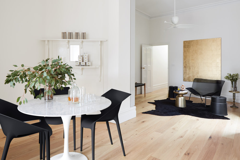 RENOVATED EXISTING OPEN PLAN DINING AND LIVING AREA