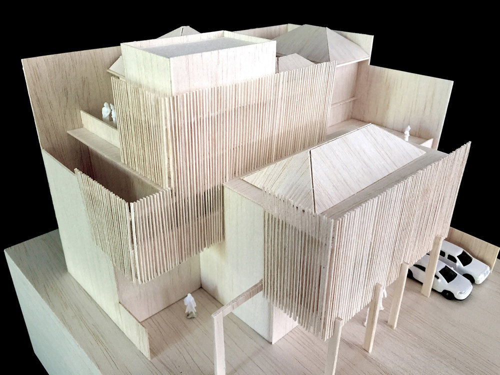 EXPERIMENTAL MAQUETTE OF SPLIT LEVEL RESIDENCE IN JAKARTA INDONESIA