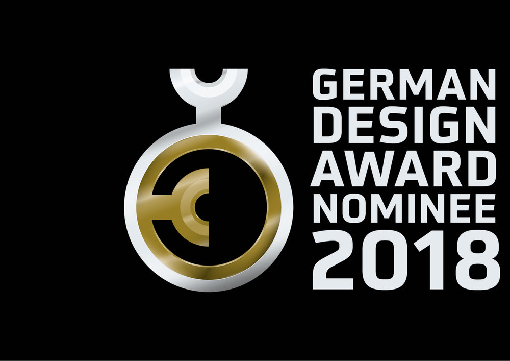 "We are ""Over The Moon"" that we have just been selected as a nominee for the GERMAN DESIGN AWARD 2018.  ISSUER: THE GERMAN DESIGN COUNCIL'S INTERNATIONAL PREMIER PRIZE"