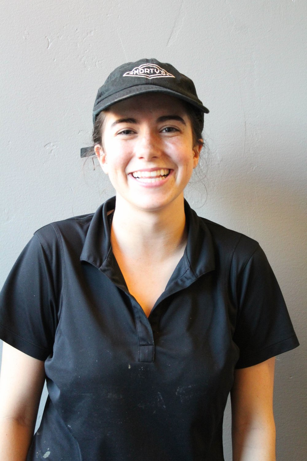 Ashley Bartlett - is from Gilbert, AZ. She moved to Logan to attend Utah State University.She is studying Human Biology and plans to attend Medical School afterwards.She has worked at Morty's Cafe for over a year.Ashley's responsibilities include grill, bringing out food to guests, being an example for the team as Team Lead and customer service.Her favorite thing on the menu is the Turkey Bacon RanchAshley has a pet Australian Shepherd back at home in Arizona.