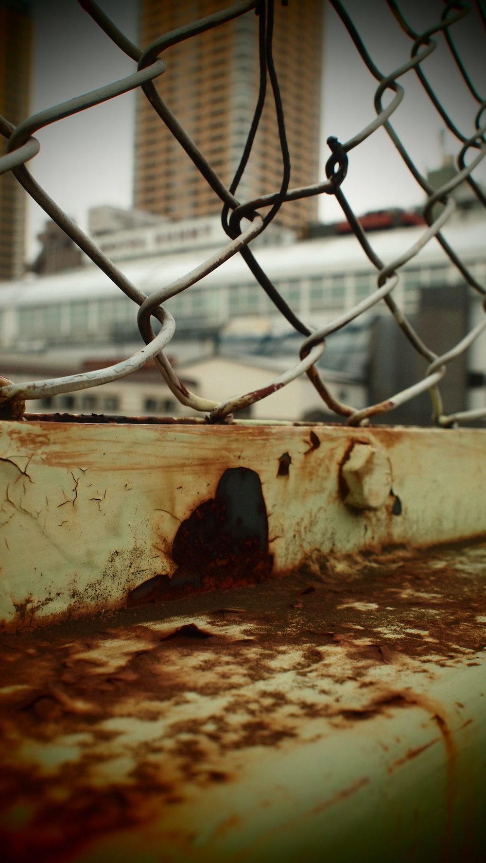Fence.  Taken near Nippori Station, Tokyo.