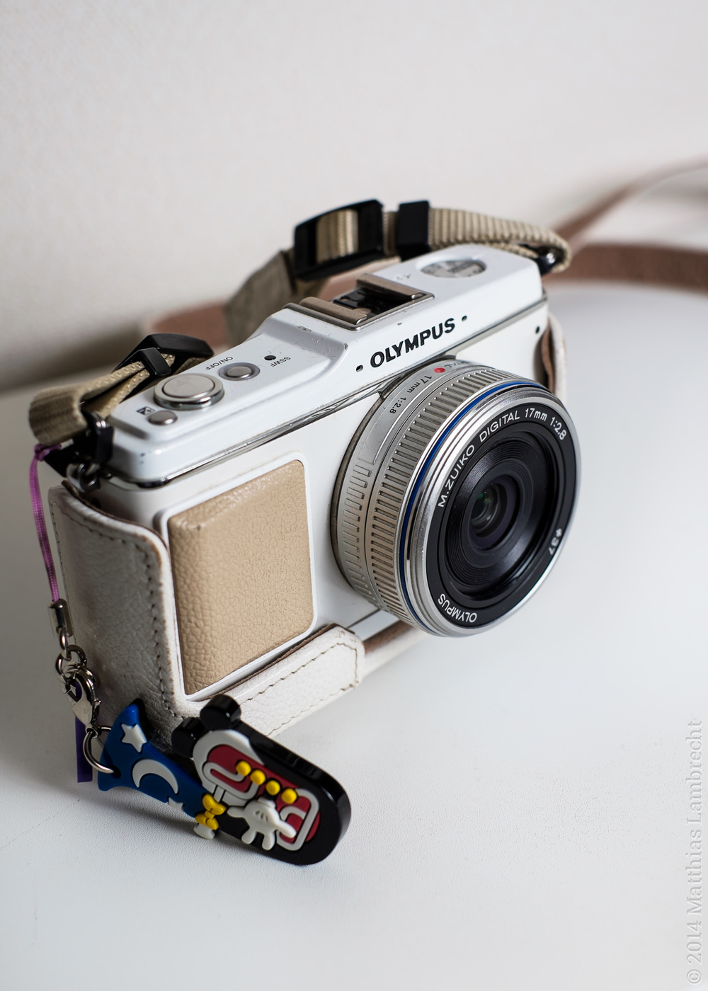 The Olympus Pen E-P1 with the 17mm pancake lens.