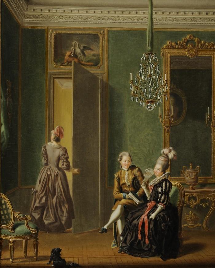 """Pehr Hilleström """"Herre och Dam i svenska dräkten"""" 1779 Olja på duk, 39 x 48 cm. Foto: ©Patric Evinger/Åmells konsthandel"""