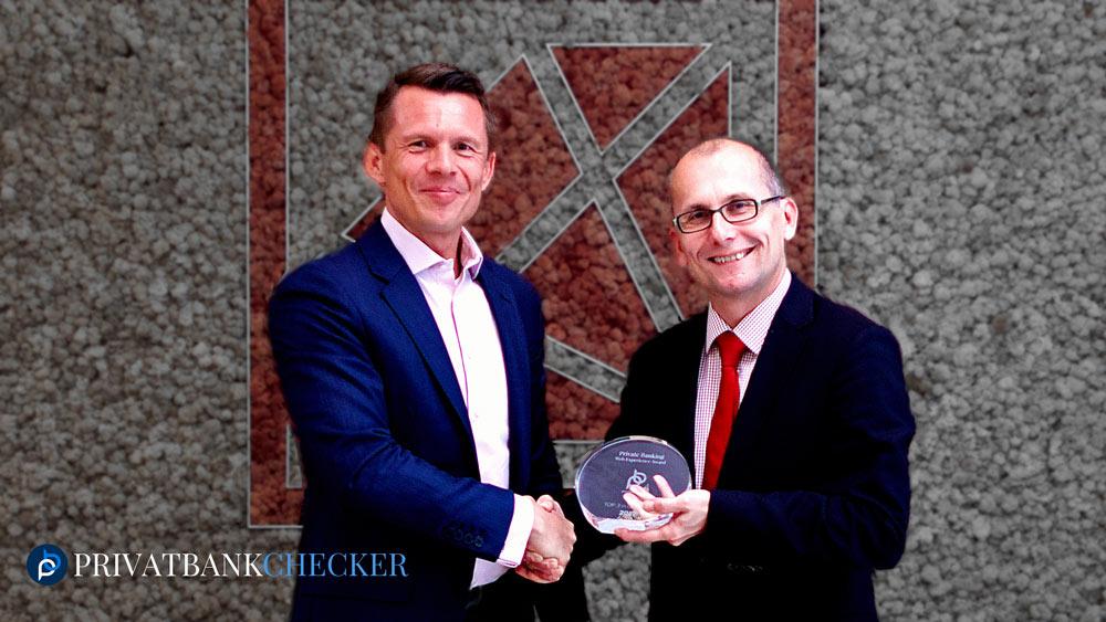 Award-Übergabe bei der Kathrein Privatbank  an Mag. Wolfgang Windisch