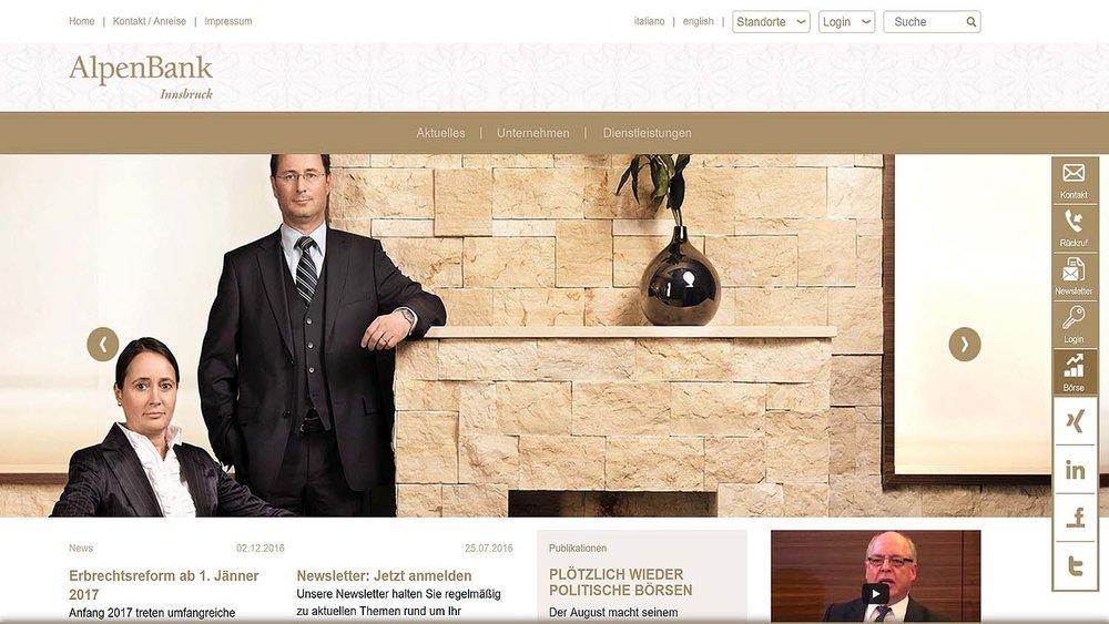 Alpenbank Homepage