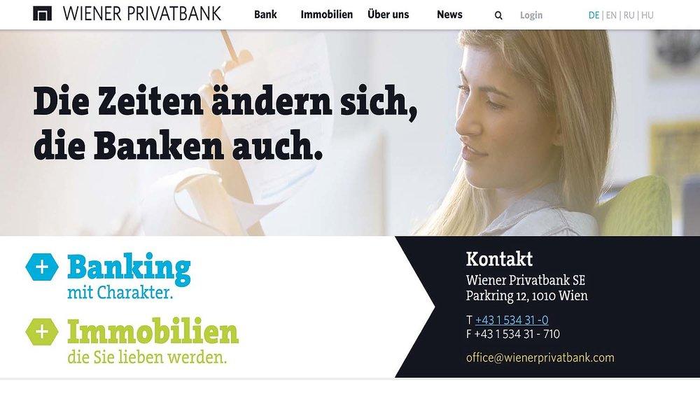 WienerPrivatbank Homepage