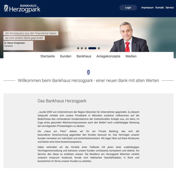 Herzogpark-Homepage